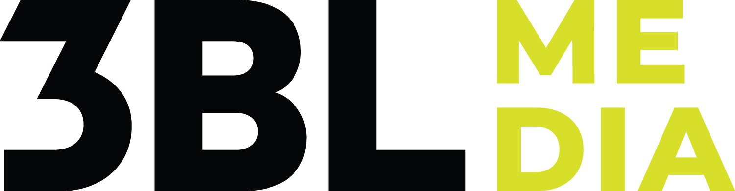 Logo for 3BL Media: 3BL in large black capital letters next to a smaller ME and DIA in neon yellow-green, stacked horizontally