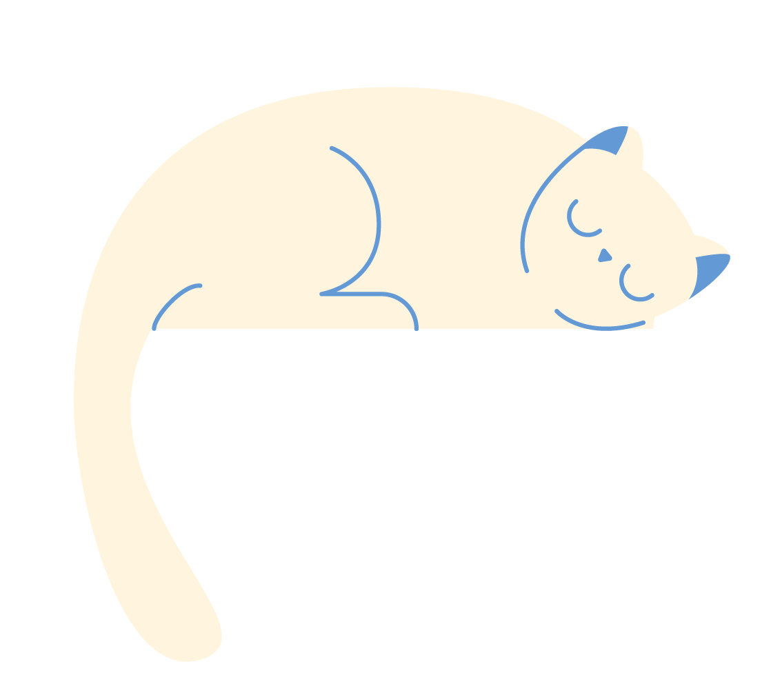 A sleeping cream cat