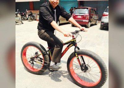 Biking in Nepal